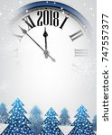 2018 new year background with... | Shutterstock .eps vector #747557377