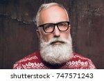 portrait senior bearded man in... | Shutterstock . vector #747571243