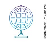 global sphere icon | Shutterstock .eps vector #747585193