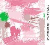 splash brush strokes seamless... | Shutterstock .eps vector #747594217