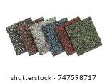 roofing material asphalt... | Shutterstock . vector #747598717