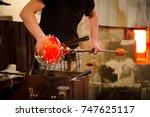 glassworks glass manufacturing  ...   Shutterstock . vector #747625117