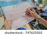 heart analysis ... | Shutterstock . vector #747625303