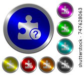 unknown plugin icons on round...   Shutterstock .eps vector #747628063