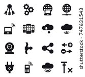 16 vector icon set   share ... | Shutterstock .eps vector #747631543