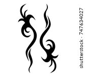 tattoo tribal designs. sketched ... | Shutterstock .eps vector #747634027