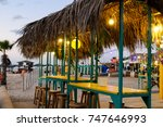 tropical cafe near the sea | Shutterstock . vector #747646993