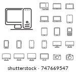 desktop icon in set on the... | Shutterstock .eps vector #747669547