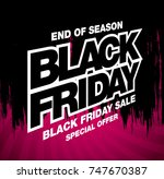 black friday sale banner layout ... | Shutterstock .eps vector #747670387