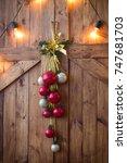 christmas decorations ... | Shutterstock . vector #747681703