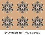 snowflakes pattern. flat design ...   Shutterstock . vector #747685483