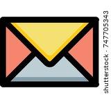 vector illustration of retro... | Shutterstock .eps vector #747705343
