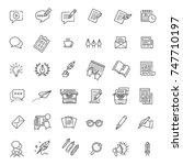 vector illustration set of... | Shutterstock .eps vector #747710197