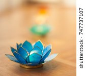 Blue Lotus Candle Holder On...