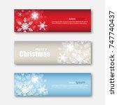 set of christmas banner... | Shutterstock .eps vector #747740437