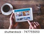 anzere  switzerland   september ... | Shutterstock . vector #747755053
