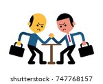 business conflict concept.... | Shutterstock .eps vector #747768157