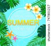 summer sale concept. summer... | Shutterstock . vector #747801217