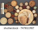 dried macrobiotic  health food  ... | Shutterstock . vector #747811987