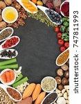 brain boosting health food... | Shutterstock . vector #747811993