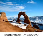 Famous Delicate Arch With Snow