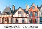beautiful old half timbered... | Shutterstock . vector #747825193