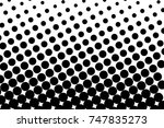abstract futuristic halftone... | Shutterstock .eps vector #747835273