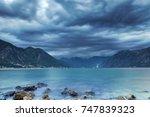boka kotorska after the rain | Shutterstock . vector #747839323