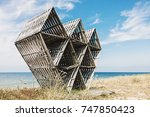 old abandoned wooden geometric... | Shutterstock . vector #747850423