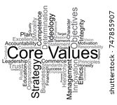 core values word cloud  vector | Shutterstock .eps vector #747855907