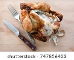 leftover chicken turkey on the... | Shutterstock . vector #747856423