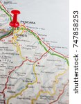 Small photo of Road map of the city of Chieti Italy