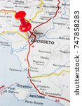 Small photo of Road map of the city of Grosseto Italy