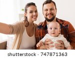 family  parenthood and people... | Shutterstock . vector #747871363