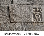 Blocks Of Old Indian Temple