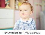 portrait of a little baby...   Shutterstock . vector #747885433