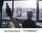 ballet dancer practicing...   Shutterstock . vector #747888007