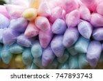 plastic bag containing cotton... | Shutterstock . vector #747893743