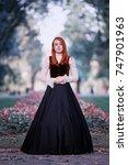 portrait of redhead woman in... | Shutterstock . vector #747901963