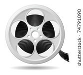 film reel  vector eps version 8 | Shutterstock .eps vector #74791090