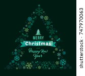 merry christmas and happy new... | Shutterstock .eps vector #747970063