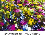 big texture abstract flowers