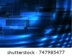 bright sparkling digital space... | Shutterstock . vector #747985477