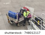 frankfurt  germany   oct 10 ... | Shutterstock . vector #748012117