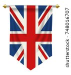 united kingdom flag or pennant... | Shutterstock .eps vector #748016707