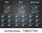 vector color menu design | Shutterstock .eps vector #748027783