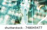 computer big data cybersecurity | Shutterstock . vector #748045477