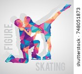 figure skaters couple polygonal ...