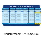 data table template. ideal for... | Shutterstock .eps vector #748056853