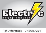 electric logo template | Shutterstock .eps vector #748057297